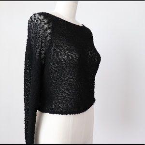 Nubby knit sweater